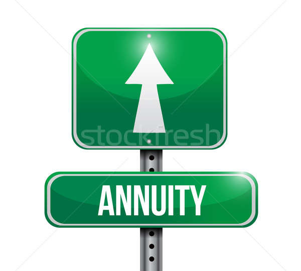 Stock photo: annuity road sign illustration design