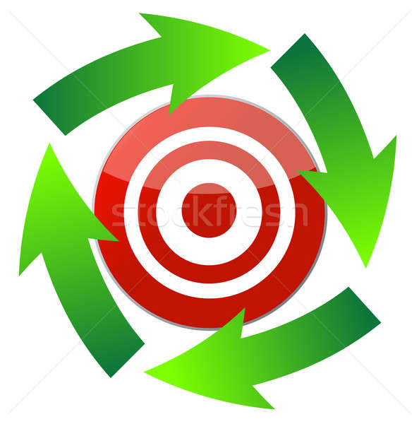 cursor arrow around target illustration Stock photo © alexmillos