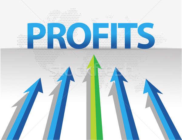 business arrows target profits illustration design Stock photo © alexmillos