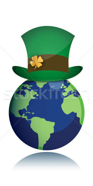 St Patrick day concept with green hat Stock photo © alexmillos