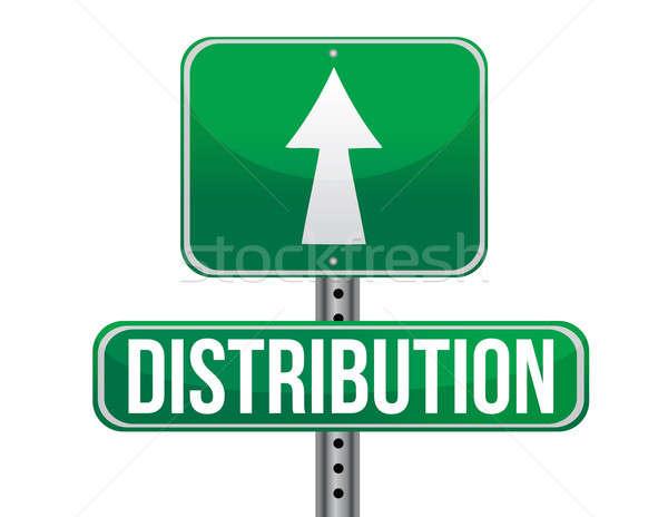 Stockfoto: Distributie · verkeer · verkeersbord · illustratie · ontwerp · witte