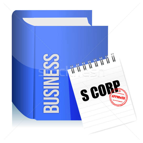 Approved stamp on a s corporation legal document illustration de Stock photo © alexmillos