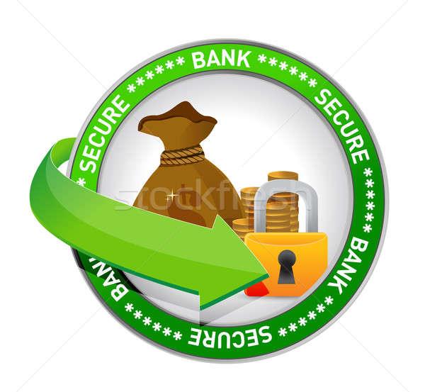 bank secure Money icon seal illustration design Stock photo © alexmillos