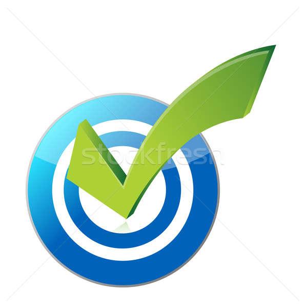 target checkmark illustration design over a white background Stock photo © alexmillos