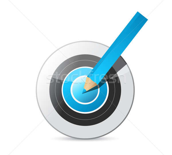 Сток-фото: карандашом · целевой · иллюстрация · дизайна · белый · бизнеса
