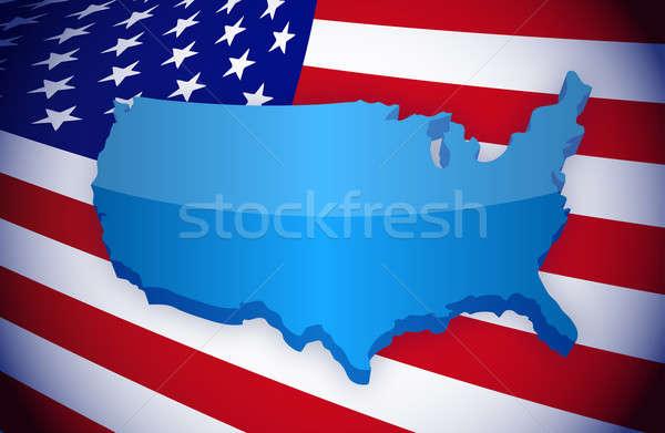 Americano paese illustrazione design patriottico Foto d'archivio © alexmillos