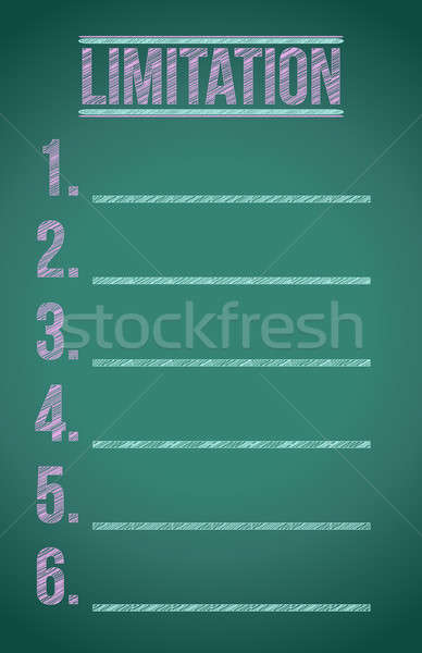 limitation list illustration design over a dark chalkboard Stock photo © alexmillos
