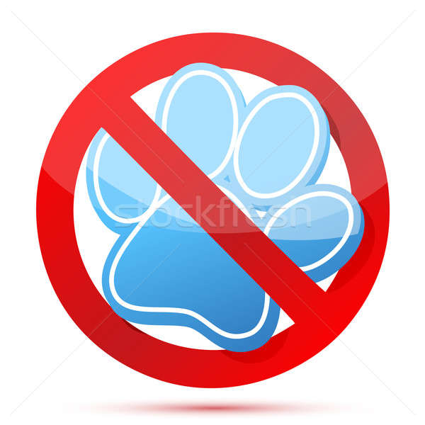 no pets allow illustration design over a white background Stock photo © alexmillos