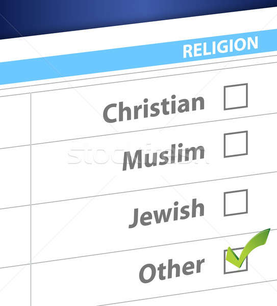 Religione blu sondaggio illustrazione design strada Foto d'archivio © alexmillos