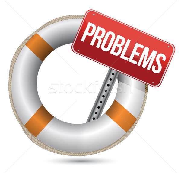 Problems Help Concept. Illustration design over a white backgrou Stock photo © alexmillos