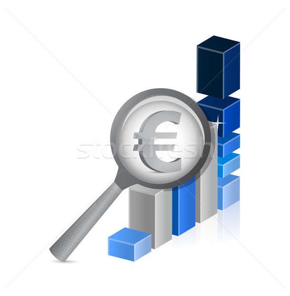 Euro currency under review. successful graph Stock photo © alexmillos