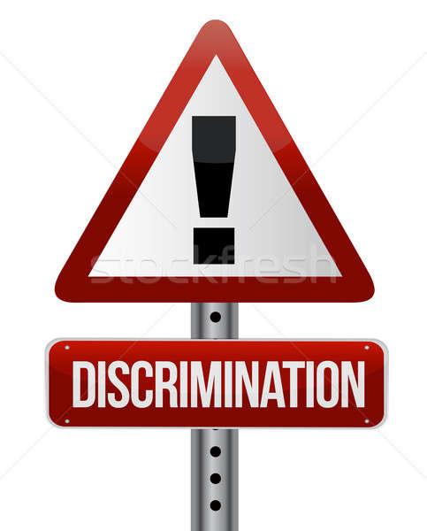 Discrimination warning sign  Stock photo © alexmillos
