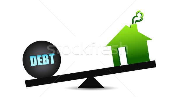 Debt and residence balance Stock photo © alexmillos