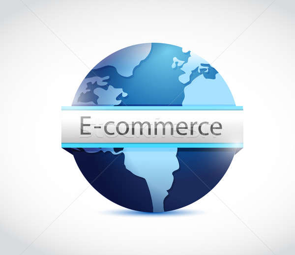 E commerce globe illustration design Stock photo © alexmillos