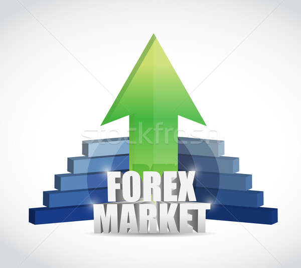 Forex marché graphe d'affaires illustration design ordinateur Photo stock © alexmillos