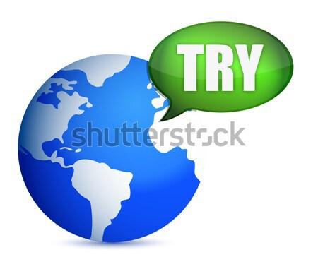 Yen para etrafında dünya örnek dizayn Stok fotoğraf © alexmillos