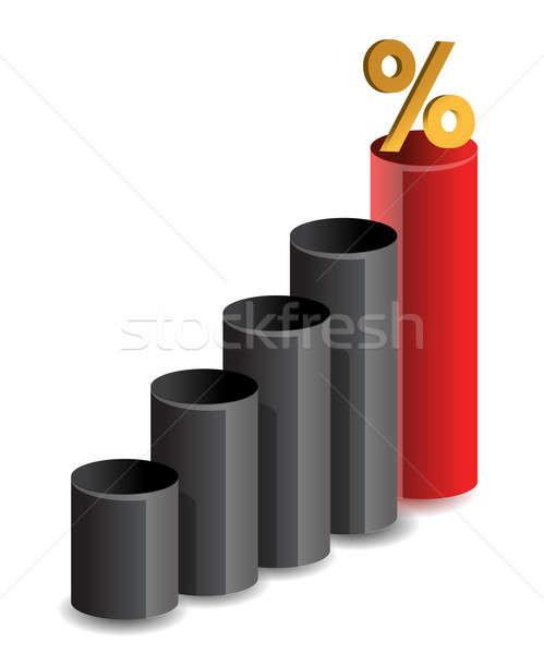 Graphe d'affaires pourcentage symbole affaires argent design Photo stock © alexmillos