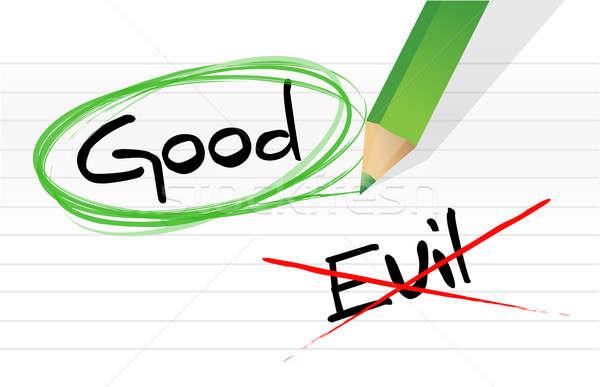 Good vs evil  Stock photo © alexmillos