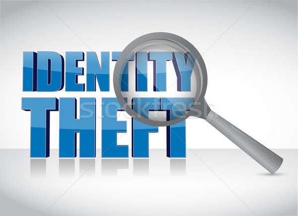 Identity theft under investigation over a white background Stock photo © alexmillos