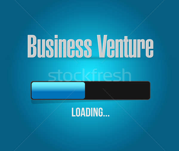 business venture loading bar sign concept Stock photo © alexmillos
