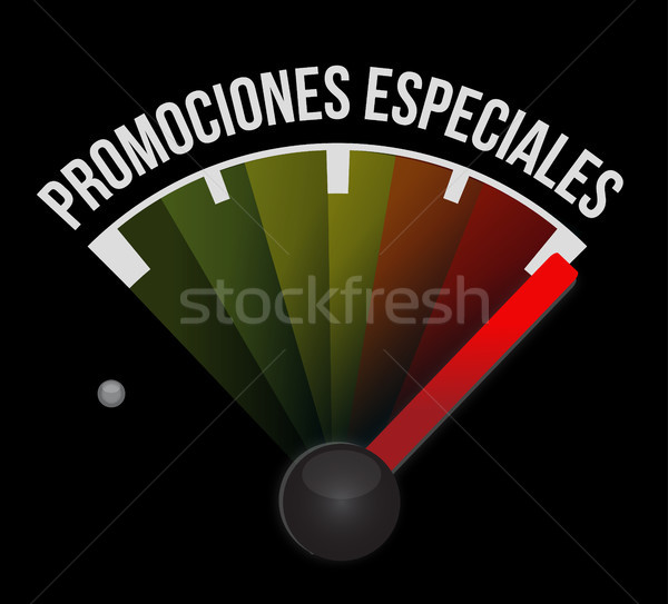 special promotions in Spanish meter sign concept Stock photo © alexmillos