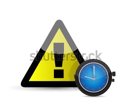 Uitroepteken zwarte bom internet oorlog stress Stockfoto © alexmillos