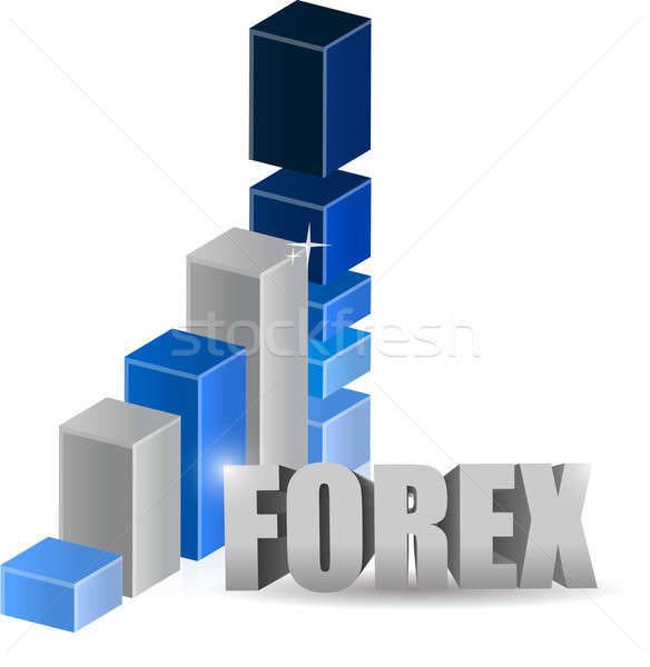 Affaires forex graphique illustration design blanche Photo stock © alexmillos