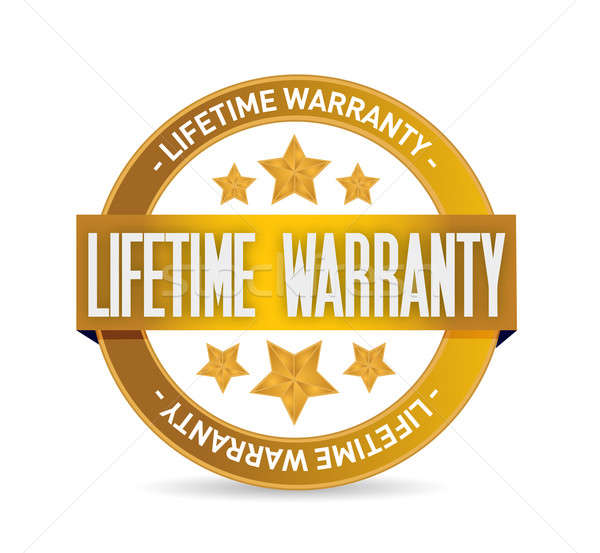 lifetime warranty seal stamp illustration design Stock photo © alexmillos