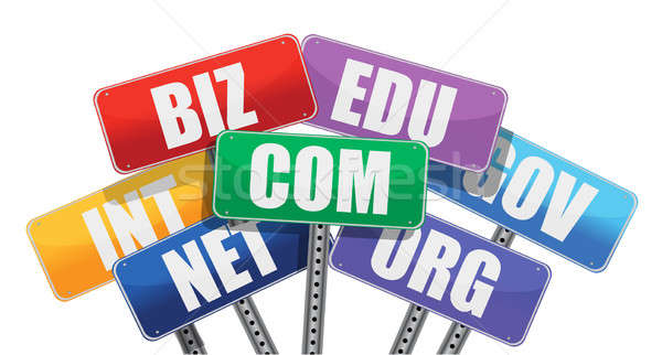 Domain names signs internet concept Stock photo © alexmillos