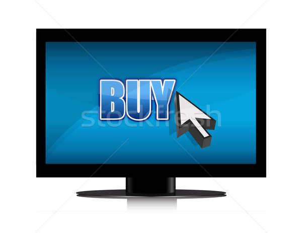 buying in tv illustration design Stock photo © alexmillos