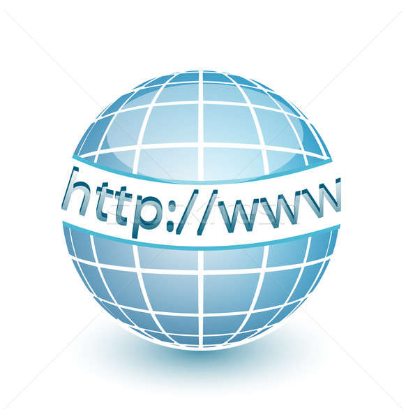 Http www internet teia globo linhas Foto stock © alexmillos