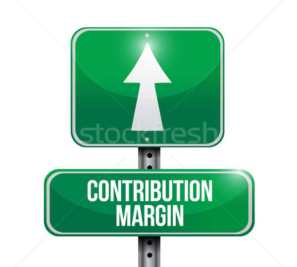 contribution margin road sign illustrations design over white Stock photo © alexmillos