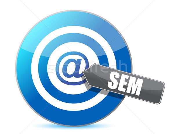 SEM target illustration design over a white background Stock photo © alexmillos
