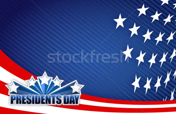 Presidents day red white and blue illustration design graphic ba Stock photo © alexmillos