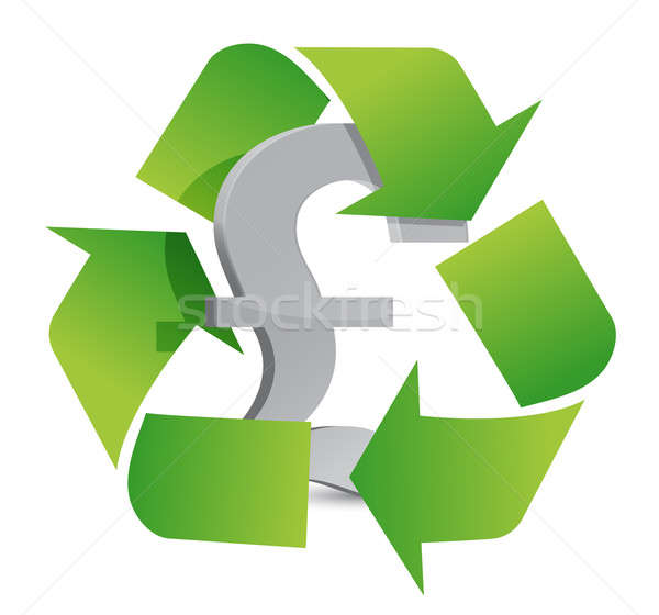 pound recycle illustration sign over a white background Stock photo © alexmillos