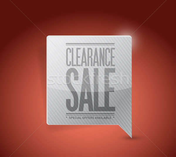 Clearance sale sign illustration design  Stock photo © alexmillos