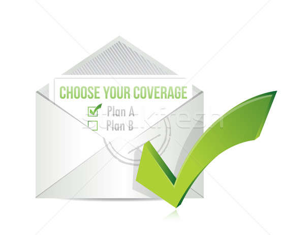 Choose your coverage by mail. illustration Stock photo © alexmillos