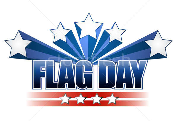 US flag day stars illustration design  Stock photo © alexmillos