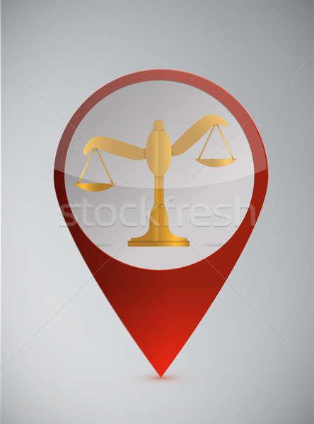 Równowagi ilustracja projektu biały działalności prawa Zdjęcia stock © alexmillos