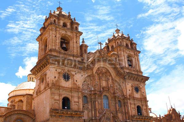 Histórico la gêmeo torres cúpula vermelho Foto stock © alexmillos