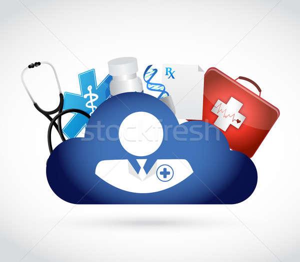 Medico memorizzazione dei dati isolato illustrazione design Foto d'archivio © alexmillos
