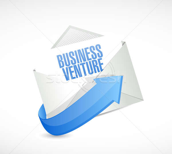 Business onderneming mail teken illustratie ontwerp Stockfoto © alexmillos