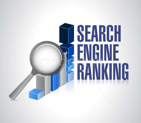 business graph. search engine ranking search. Stock photo © alexmillos