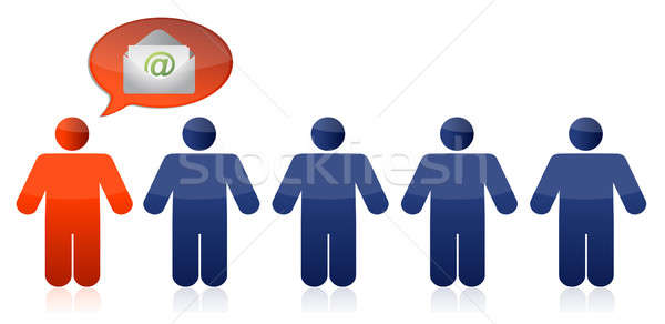 Business concept people mail illustration Stock photo © alexmillos