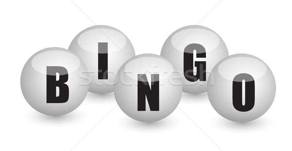 Bingo illustratie ontwerp sport bal Stockfoto © alexmillos