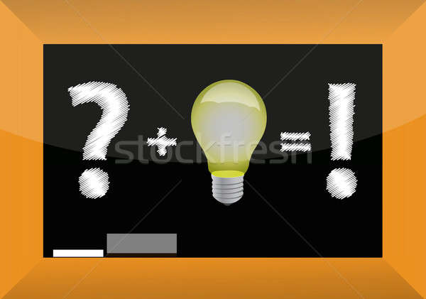 Concept of problem solving by good idea on blackboard Stock photo © alexmillos
