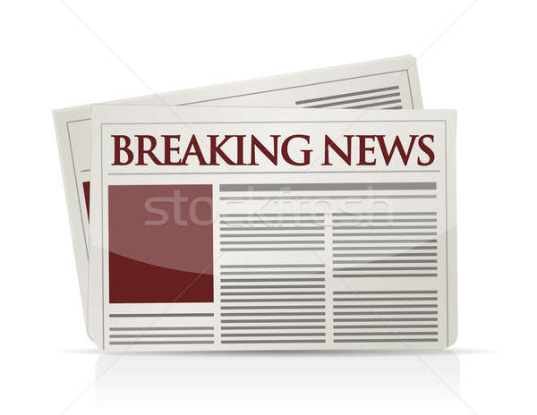 Rendkívüli hírek illusztráció terv üzlet háló pénzügy Stock fotó © alexmillos