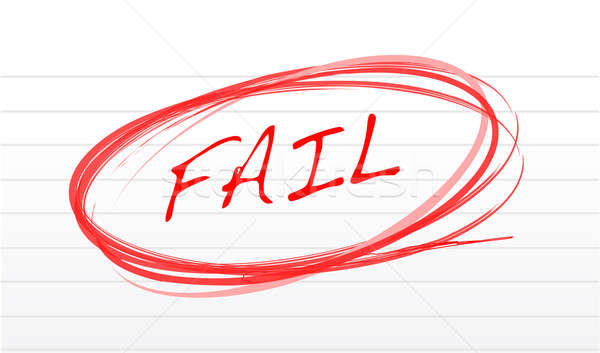 fail written on a notepad paper illustration design Stock photo © alexmillos