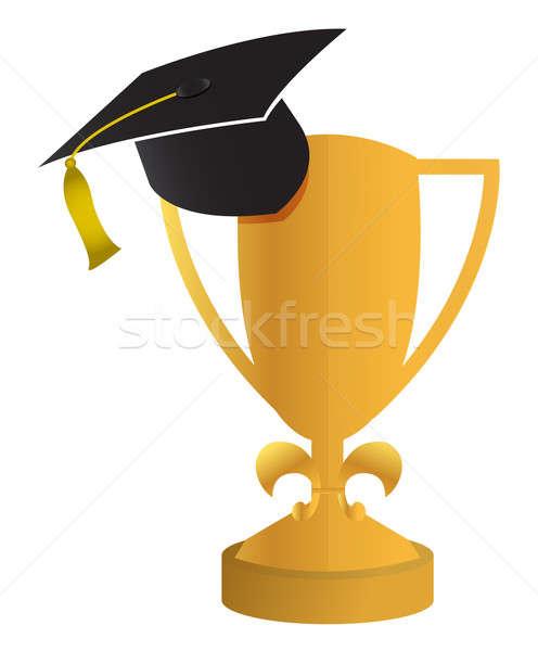 education concept of the graduation illustration design Stock photo © alexmillos