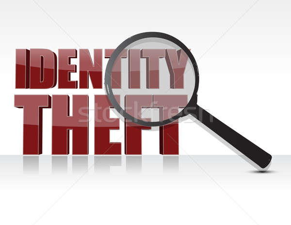Kradzież tożsamości pracy technologii zakupy finansów komunikacji Zdjęcia stock © alexmillos